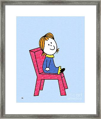 Doll Sitting 2 Framed Print by Donna Mibus
