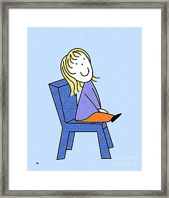 Doll Sitting 4 Framed Print by Donna Mibus