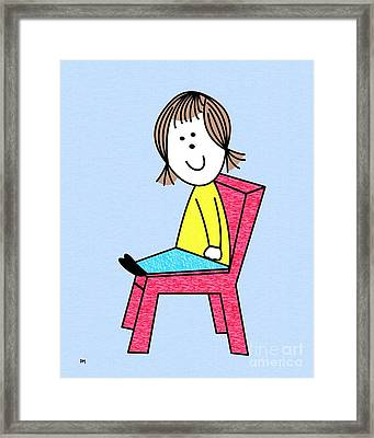Doll Sitting Framed Print by Donna Mibus