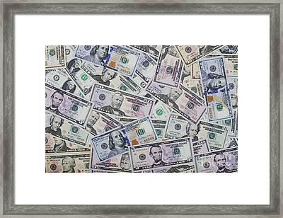Dollar Bills Framed Print by Tim Gainey