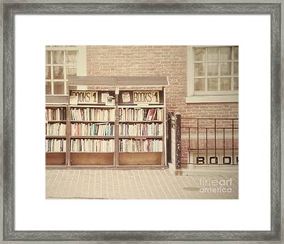 Dollar Books Framed Print by Jillian Audrey Photography