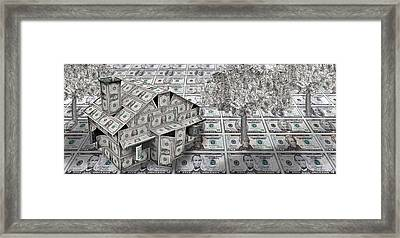 Dollar House With Money Tree Framed Print by Panoramic Images