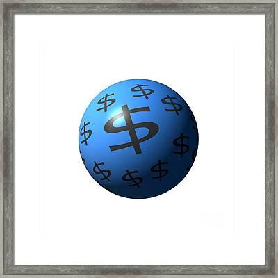Dollar Sphere Framed Print