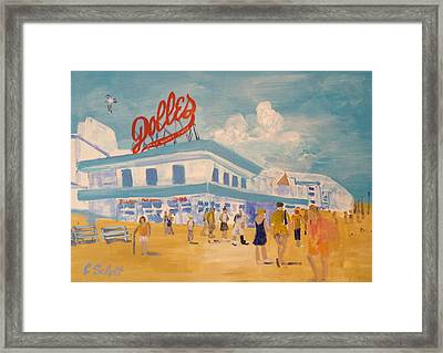 Dolles Salt Water Taffy Framed Print