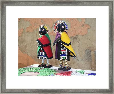 Dolls For Sale, Soweto, Johannesburg Framed Print