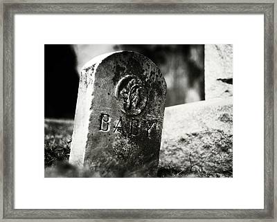 Dolls Of Joy And Grief Framed Print by Rebecca Sherman