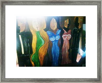 Dolls Framed Print by Vickie Meza