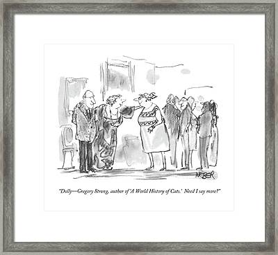 Dolly - Gregory Strong Framed Print by Robert Weber