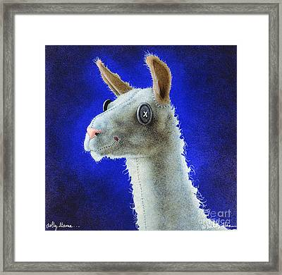 Dolly Llama... Framed Print by Will Bullas
