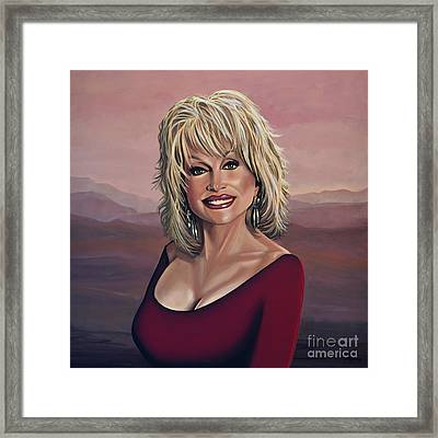 Dolly Parton 2 Framed Print by Paul Meijering