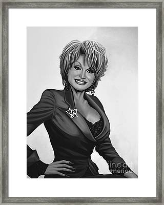 Dolly Parton Framed Print by Meijering Manupix