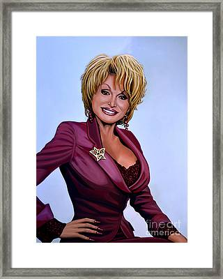 Dolly Parton Framed Print by Paul Meijering