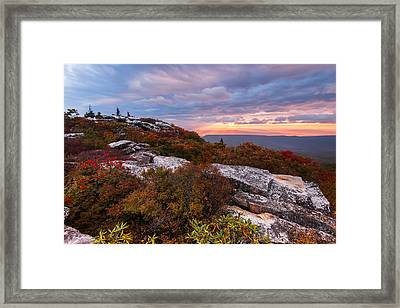 Dolly Sods October Sunrise Framed Print