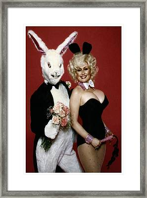 Dolly With Playboy Rabbit Framed Print by Brian Graybill