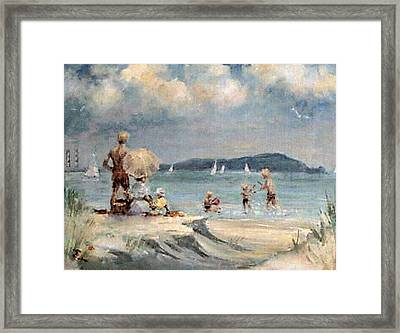 Dollymount Strand  Clontarf Framed Print