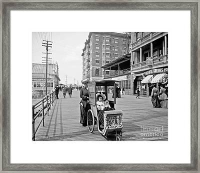Dolly's Go-cart In Atlantic City Framed Print