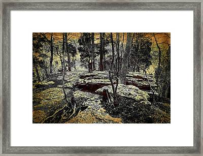 Dolomite Cliff Framed Print by Diana Boyd