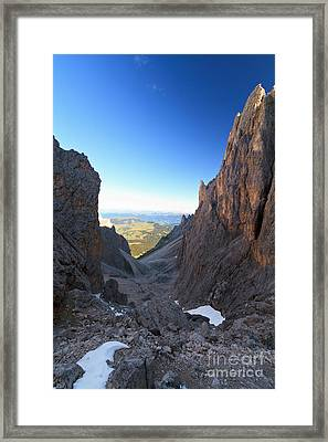 Framed Print featuring the photograph Dolomites At Morning by Antonio Scarpi