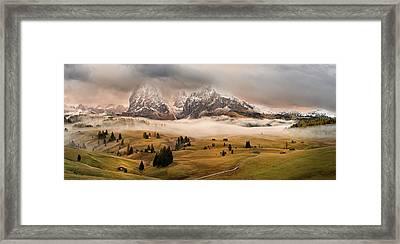 Dolomites Myths Framed Print