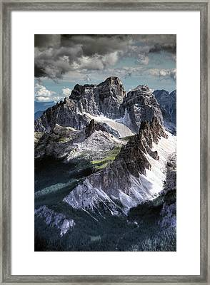 Dolomites Peaks View From Lagazuoi Framed Print by Mariusz Kluzniak