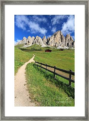 Dolomiti - Cir Group Framed Print by Antonio Scarpi