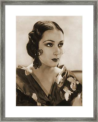 Dolores Del Rio, Hollywood Movie Star Framed Print by Photo Researchers
