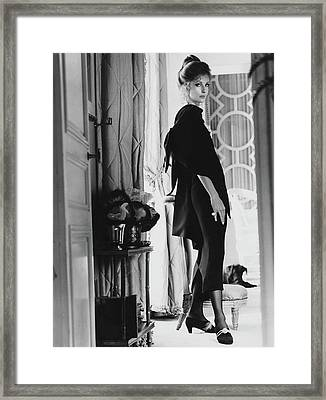 Dolores Guinness Wearing Givenchy Framed Print