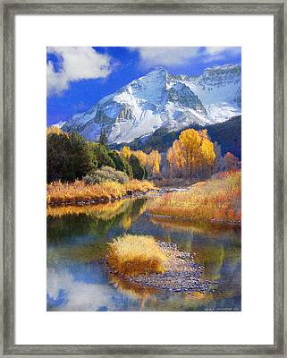 Dolores River In Southwest Colorado Framed Print