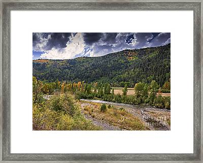 Dolores River Valley Framed Print by Janice Rae Pariza