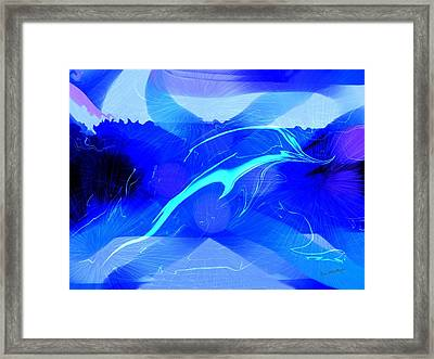 Dolphin Abstract - 1 Framed Print