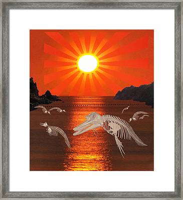 Dolphin Bay Taiji Cove Framed Print by Eric Kempson