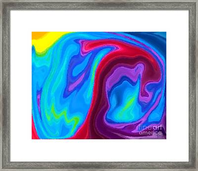 Dolphin Framed Print by Chris Butler