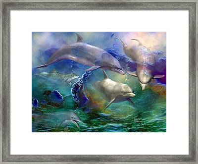 Dolphin Dream Framed Print by Carol Cavalaris