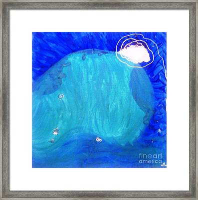 Framed Print featuring the painting Dolphin by Ilona Svetluska