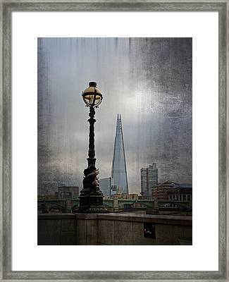 Dolphin Lamp Posts London Framed Print by Lynn Bolt