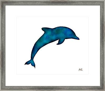 Dolphin Framed Print by Laura Bell