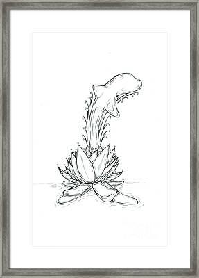 Dolphin Framed Print by Matt Sutherland