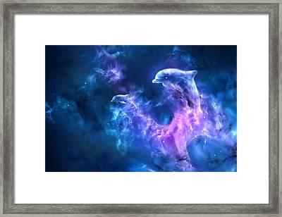 Dolphin Nebula Framed Print