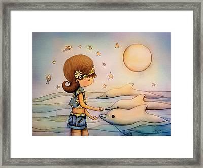 Dolphin Paradise Framed Print by Karin Taylor