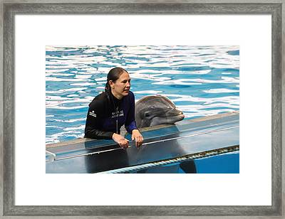 Dolphin Show - National Aquarium In Baltimore Md - 1212230 Framed Print by DC Photographer