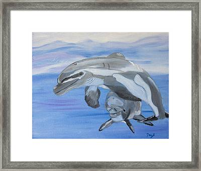 Sublime Dolphins Framed Print