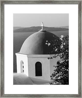 Dome And Flowers Framed Print