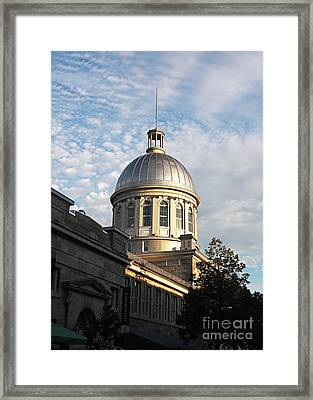 Dome In Montreal Framed Print