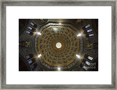 Dome Inside Duomo Cathedral Framed Print by Sami Sarkis