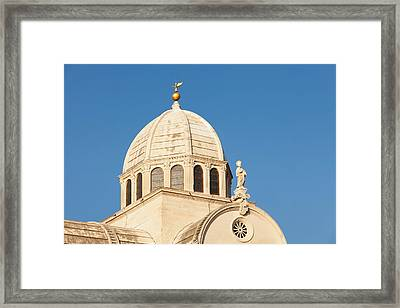Dome Of A Cathedral, Sibenik Cathedral Framed Print