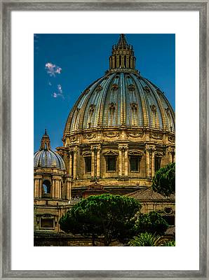 Framed Print featuring the photograph Dome Of Michelangelo by Rob Tullis