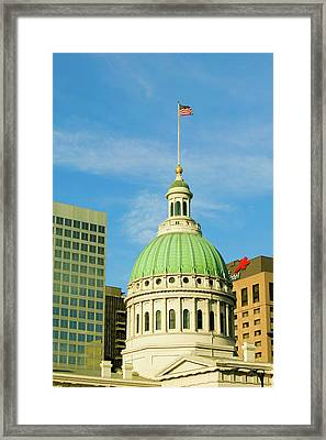 Dome Of Saint Louis Historical Old Framed Print