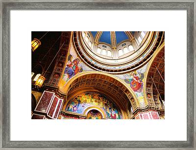 Framed Print featuring the photograph Dome Of St. Matthews Washington Dc by John S
