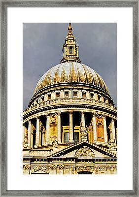 Dome Of St. Paul's Cathedral Framed Print by Christi Kraft