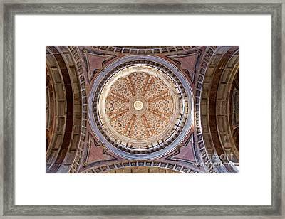 Dome Of The Baroque Basilica Of Mafra Framed Print by Jose Elias - Sofia Pereira